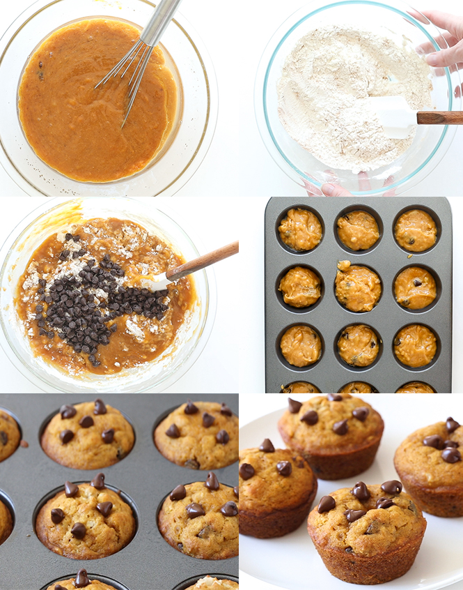 Step by step pictures of pumpkin muffins | chefsavvy.com