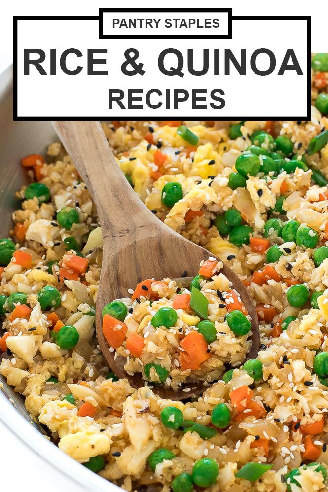 Rice & Quinoa Pantry Recipes | chefsavvy.com