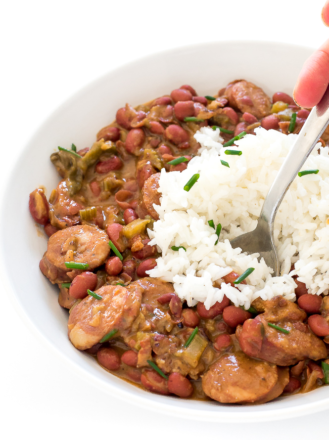 Red Beans and Rice Recipe | chefsavvy.com