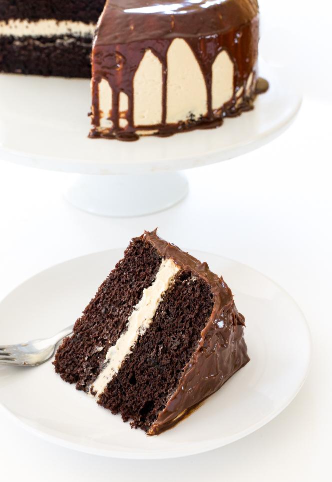 Homemade Salted Caramel Chocolate Cake | chefsavvy.com