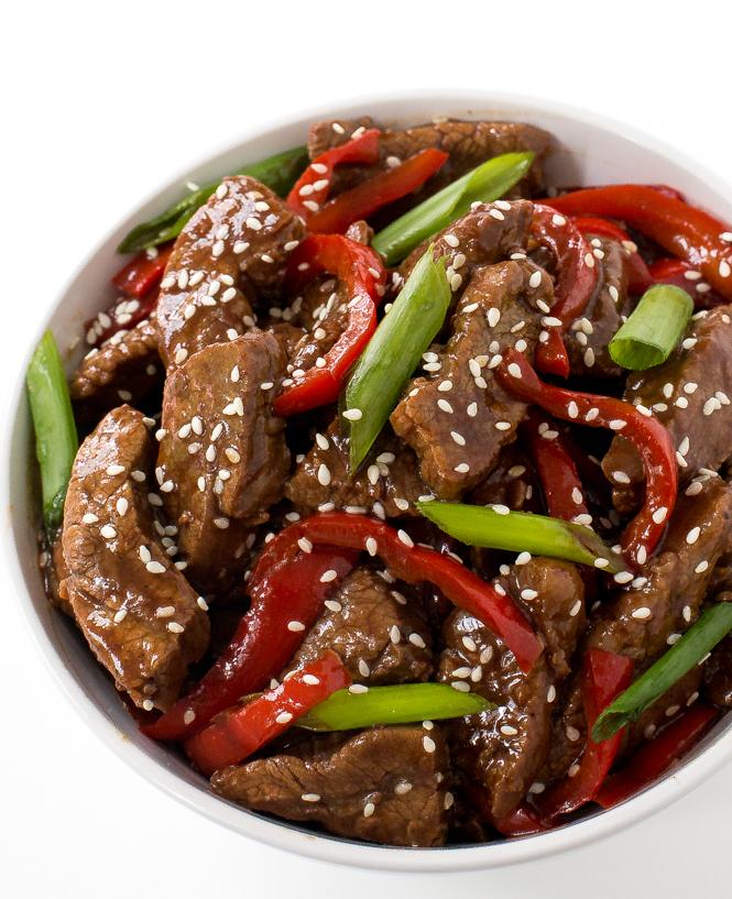 Easy Sesame Beef | chefsavvy.com