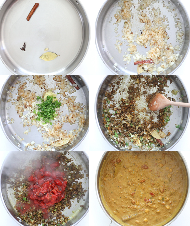 Step by step pictures of chickpea curry | chefsavvy.com