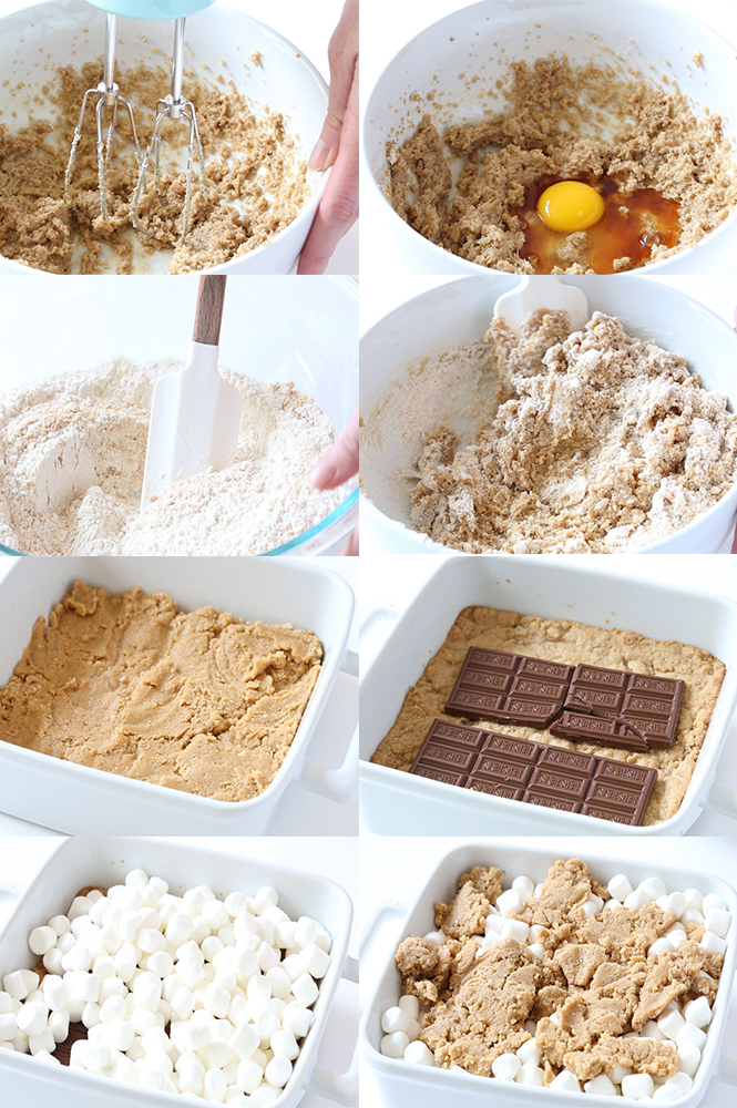 Step by step instructions on how to make Smores Bars | chefsavvy.com