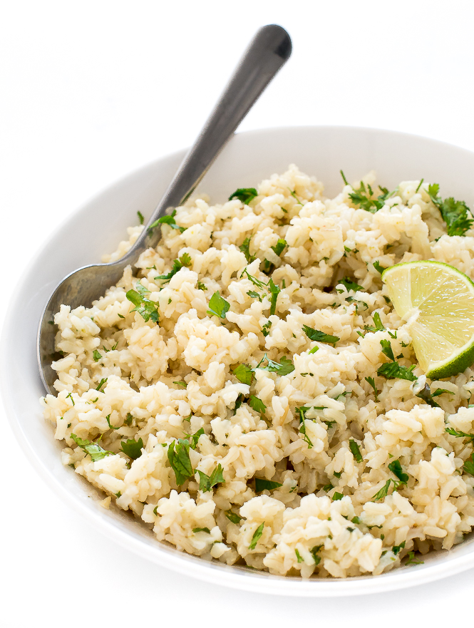 Healthy Cilantro Lime Brown Rice   chefsavvy.com