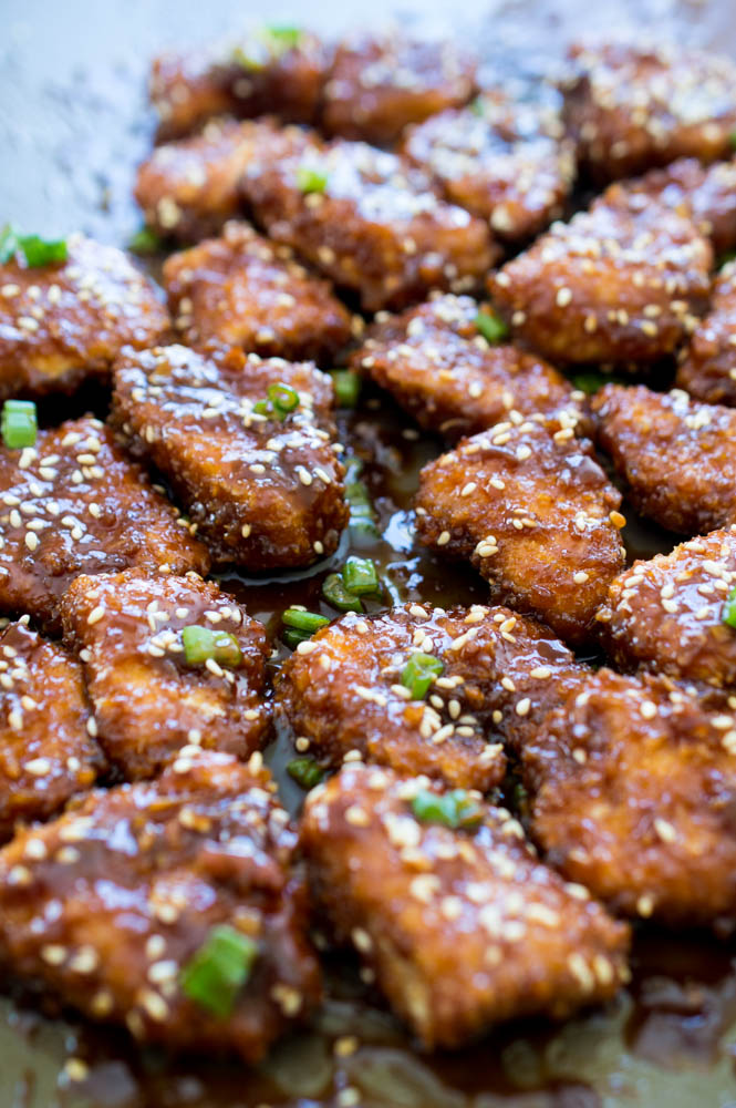 Super Sticky Asian Chicken Bites | chefsavvy.com #recipe #sticky #asian #chicken #bites