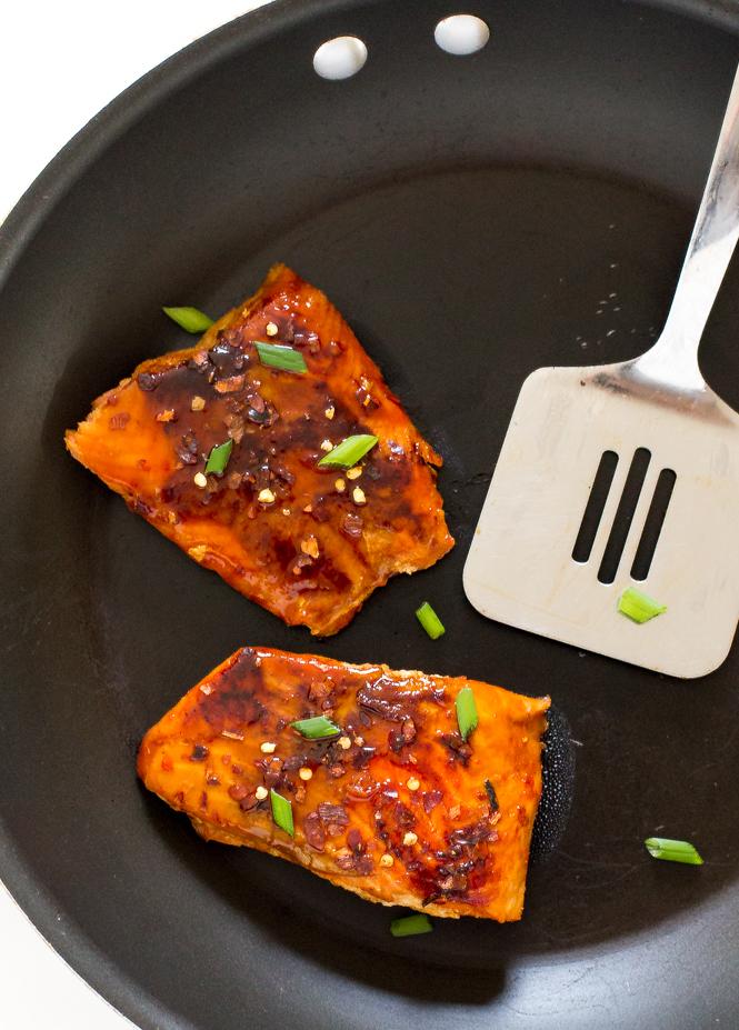 20 Minute Firecracker Salmon | chefsavvy.com