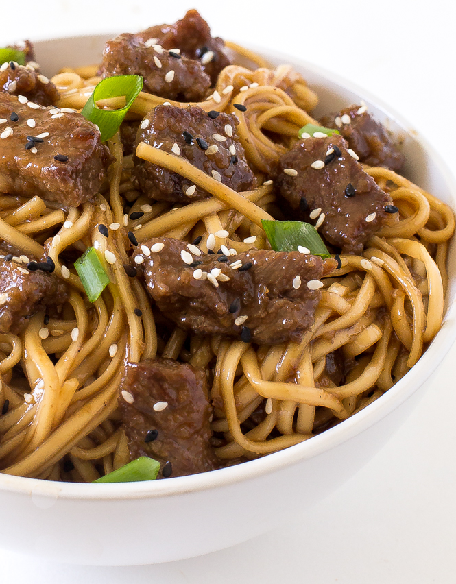Beef Teriyaki Noodles | chefsavvy.com