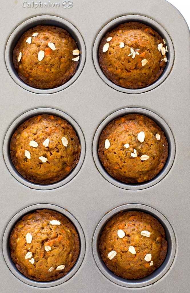 Healthy Carrot Cake Muffins | chefsavvy.com