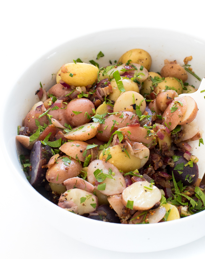Warm German Potato Salad | chefsavvy.com