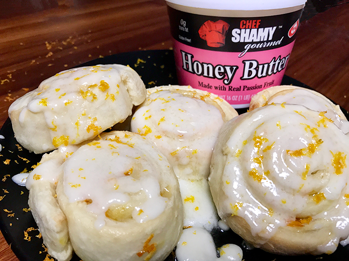 Chef Shamy Passion Fruit Honey Butter Orange Rolls