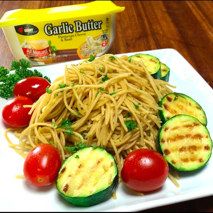 Garlic Butter Skinny Pasta Recipe