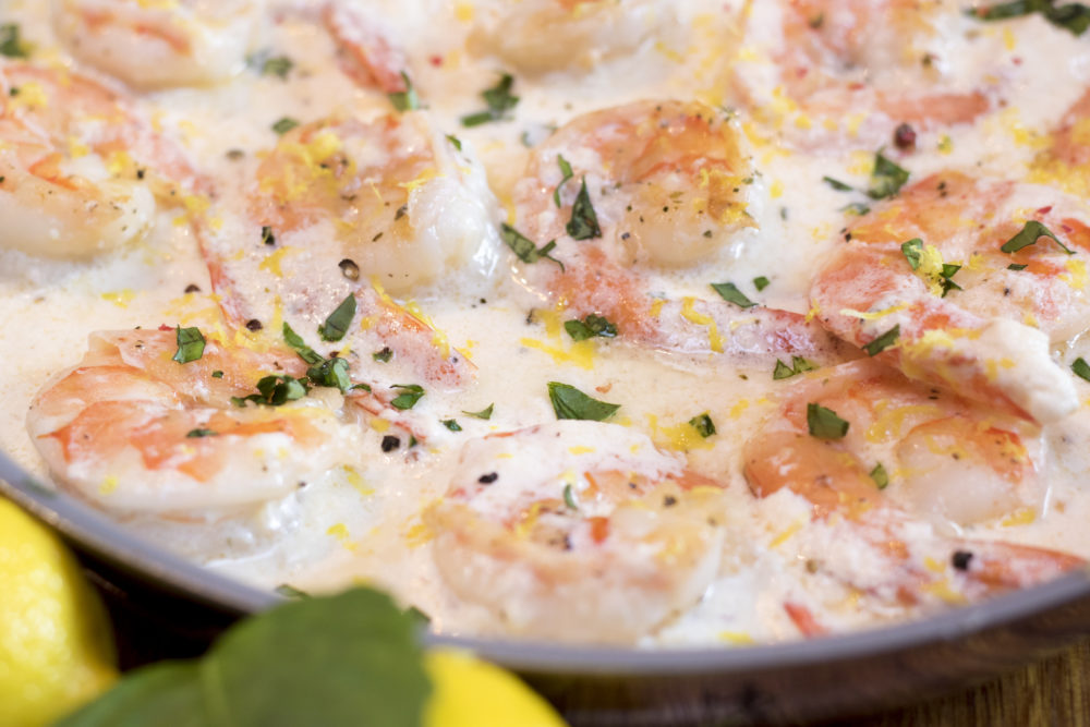 Creamy Lemon Garlic Shrimp Recipe