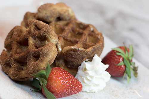 Cinnamon Honey Butter Churro Waffles Recipe