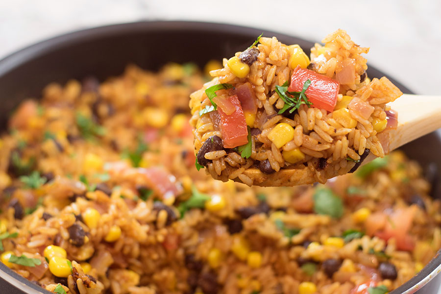 One Pot Mexican Rice Skillet Recipe