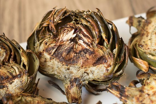 Garlic Grilled Artichokes