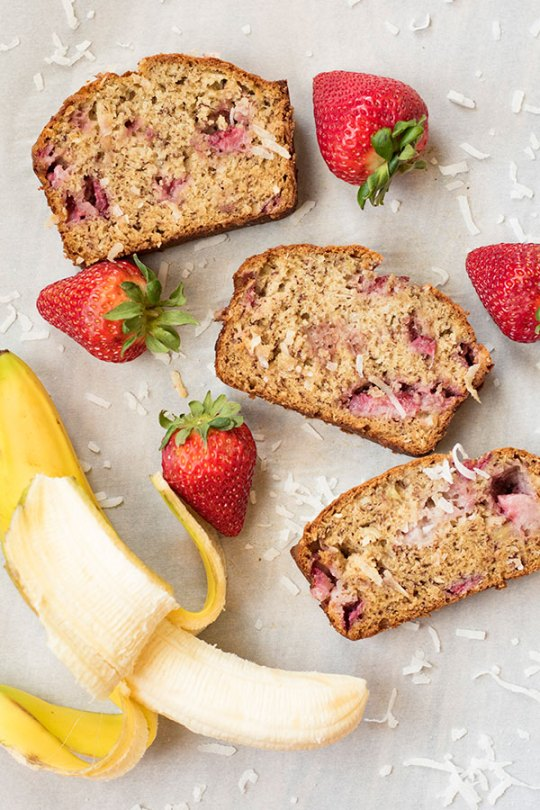 Strawberry Coconut Banana Bread