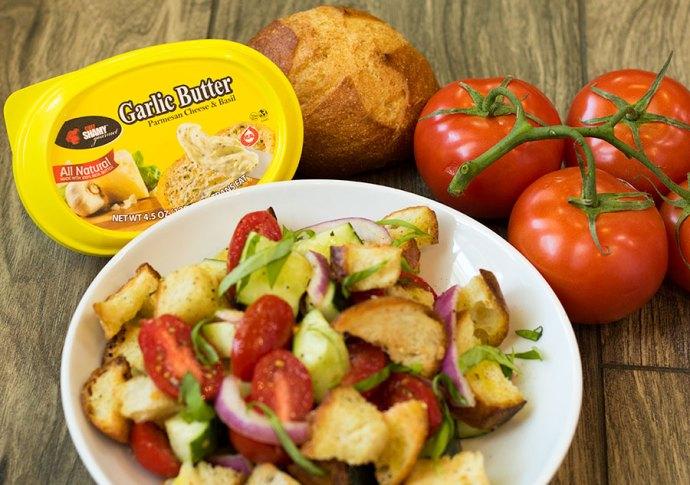 Garlic Bread Panzanella Salad