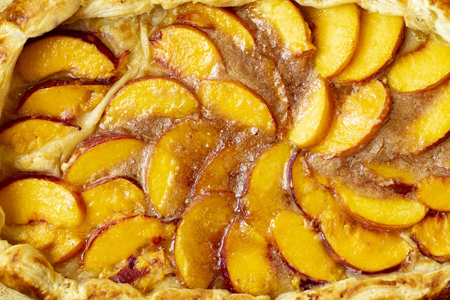 Puff Pastry Peach Galette