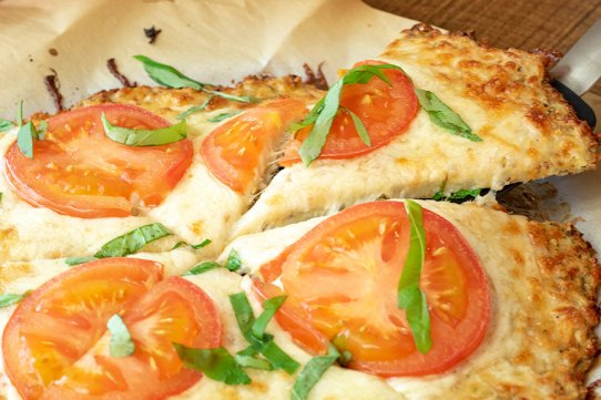 Garlic Butter Cauliflower Pizza Crust