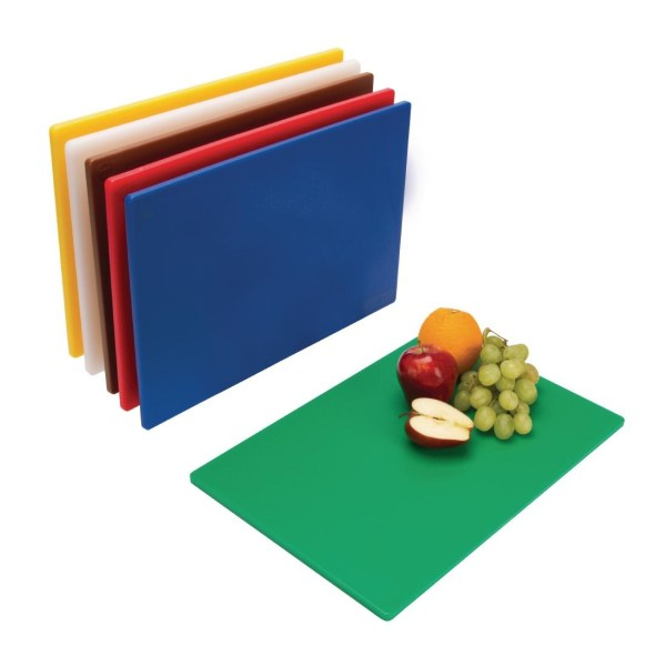 Hygiplas Standard Low Density Chopping Board Set