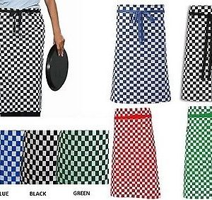 Checked Waist Apron