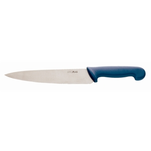"Cooks Knife 8.5"" Blue handle for raw fish"