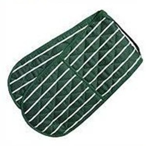 Butchers stripe oven gloves