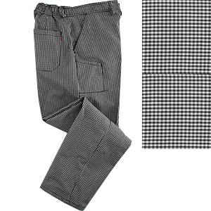 Denny's black check polycotton trousers