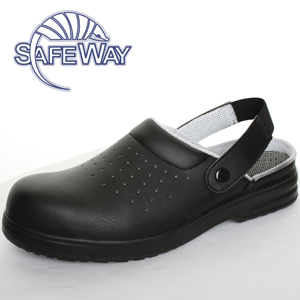 Safeway black safety sandal with heel strap