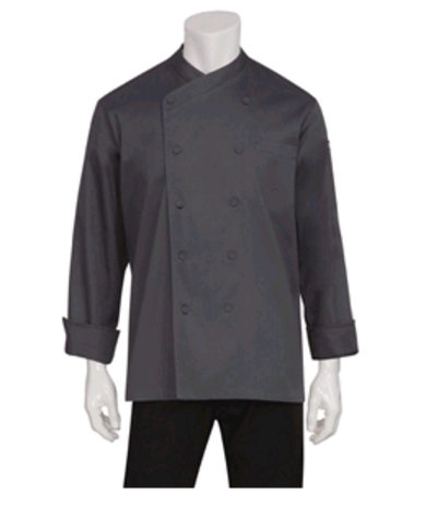 Anguilla Executive Unisex Chef Jacket Charcoal