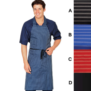 Waterproof polyurethane striped apron