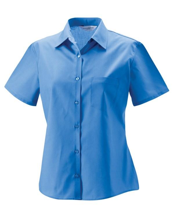 Ladies' Short Sleeve Polycotton Easy Care Poplin Shirt