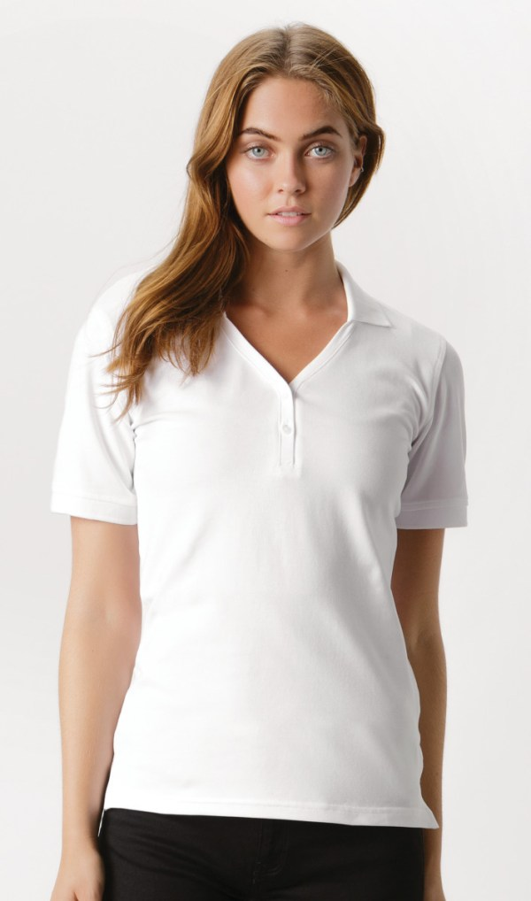 Ladies' Sophia Comfortec® V-Neck Polo Shirt