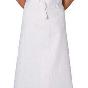 Waist apron in white