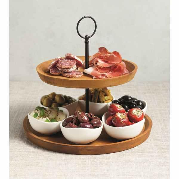 Artesà Appetiser Two Tier Serving Set