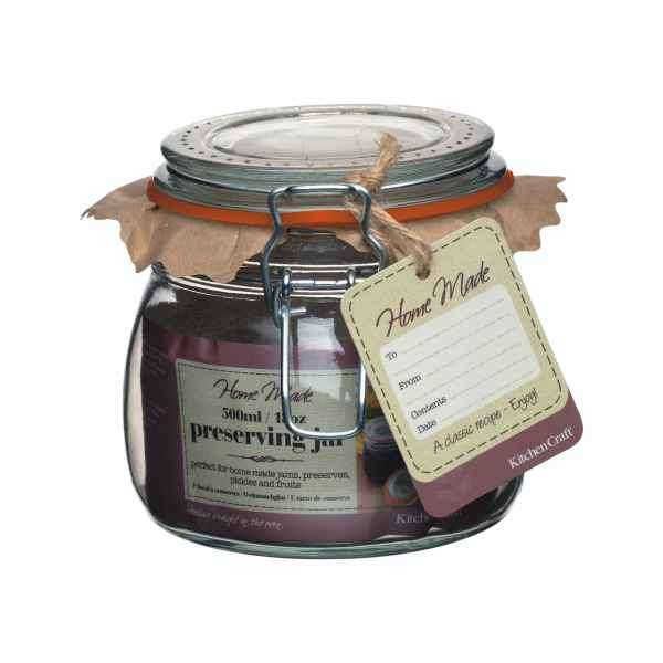Home Made Glass 500ml Preserving Jar