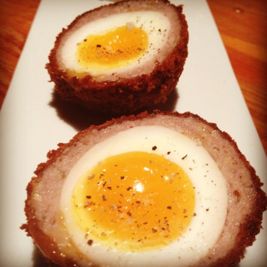 Any time of day, the scotch eggs at the Pourhouse, hit the spot.