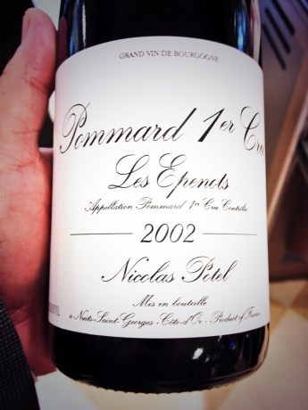 This wine + the next picture ( a ton of Burgundy truffles) = Incredible.