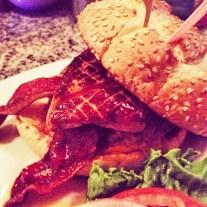 The American Classic Burger with a slab of foie gras at Hubert Keller's Burger Bar (Las Vegas)
