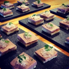 At our reunion dinner pop-up, I tasked one of the boys to make my old chicken liver parfait. The parfait was like hanging out with an old friend I hadn't seen in a while.