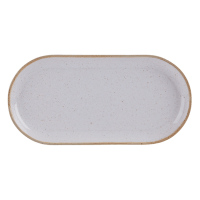 Stone Narrow Oval Plate 30cm - Pack of 6 - Chefs Tableware
