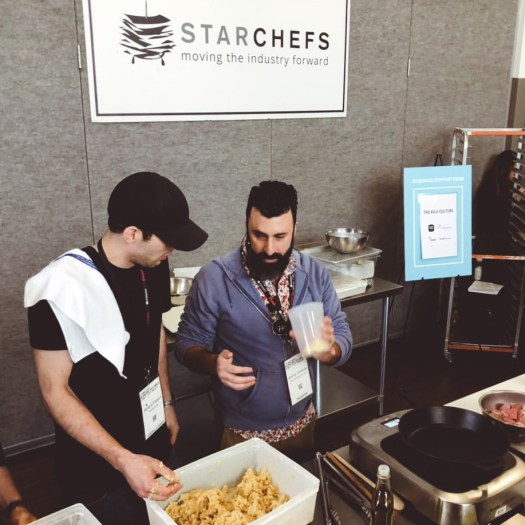chef jeremy umansky cooking with miso and koji at the starchefs congress