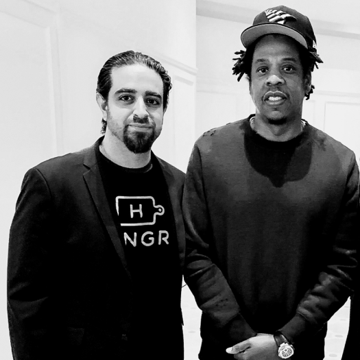 Hungry founder Eman Pahlavani and Jay-Z