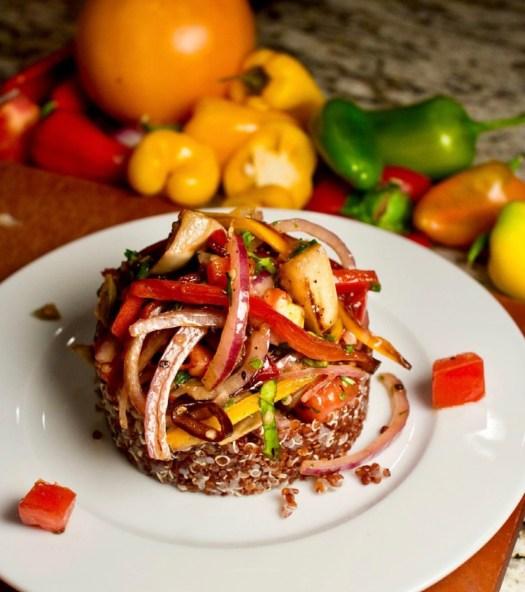 quinoa tower by chef jonathan bardzik
