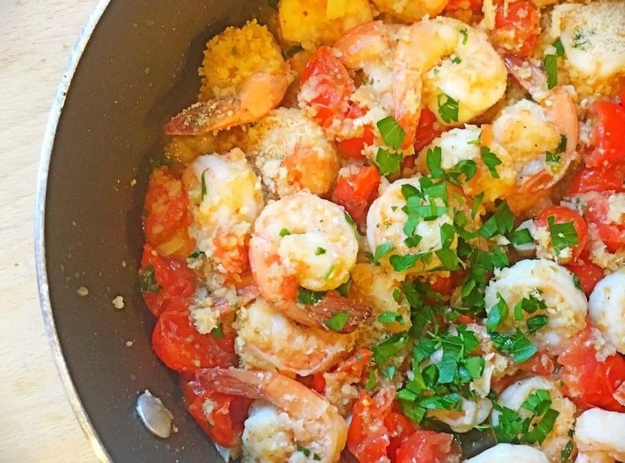 Breaded Pan Seared Shrimp
