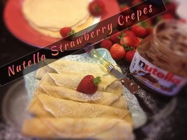 Palacinka: Croatian Crepes with Nutella and Strawberries
