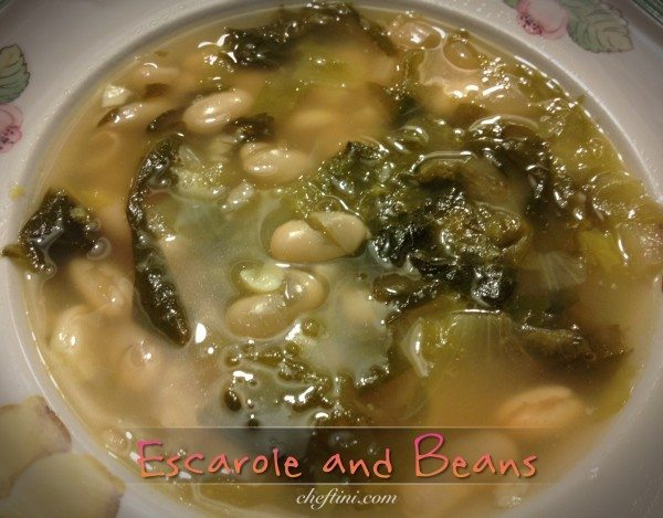 My Comfort Food:Escarole and Beans
