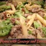 penne and broccoli sausage