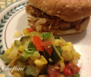 corn zucchini pulled pork 1