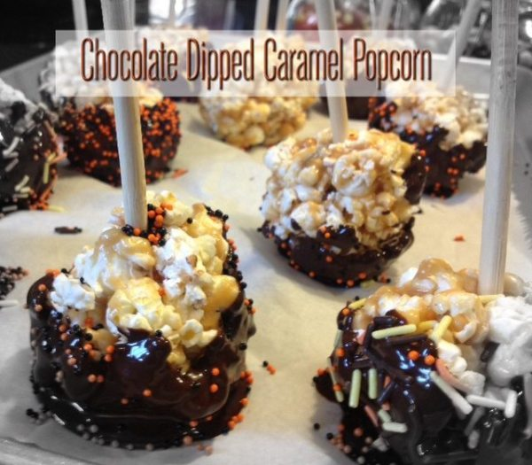 Chocolate Dipped Caramel Popcorn